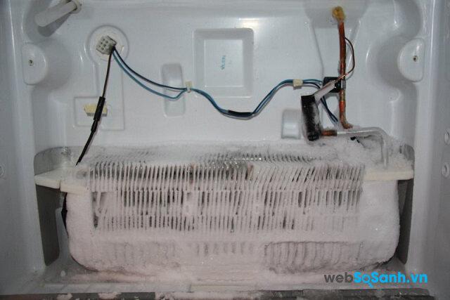 Phải làm gì khi tủ lạnh bị đóng đầy tuyết ?