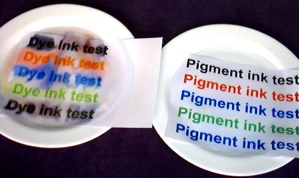 Phân biệt mực in Dye ink và Pigment ink