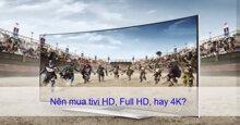 Phân biệt tivi HD, Full HD và 4K – Nên chọn loại nào trong 3 dòng tivi này ?