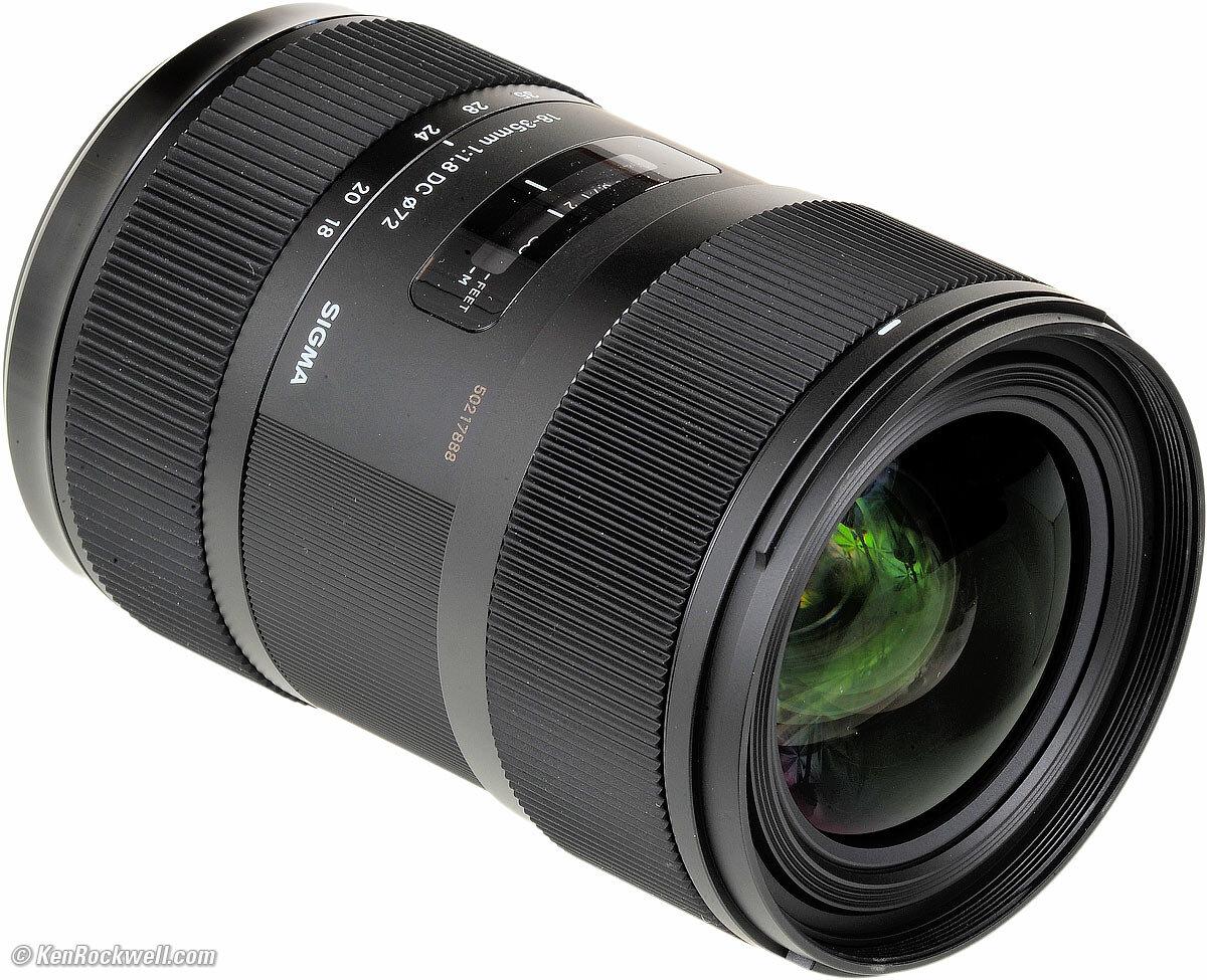 Phân tích thông số kỹ thuật của Lens Sigma 18-35mm f/1.8 DC HSM
