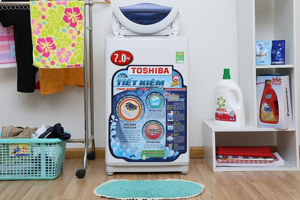 Máy giặt Toshiba loại 7kg được ưa chuộng bởi nhiều gia đình? (Nguồn: digicity.vn)