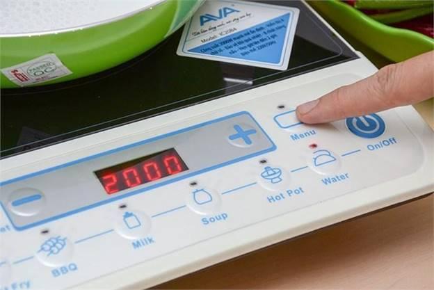 Bếp điện từ AVA IC20B4 của AVA có chế độ nấu soup