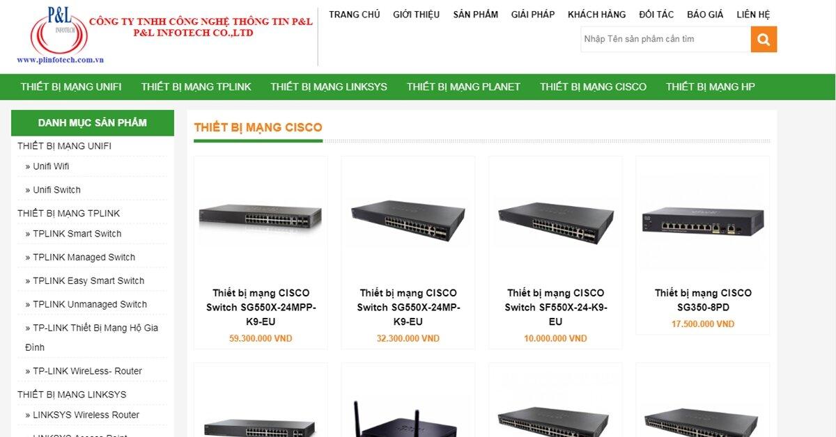 Plinfotech – Địa chỉ phân phối thiết bị mạng Linksys, Planet, Cisco, HP, Unifi chính hãng