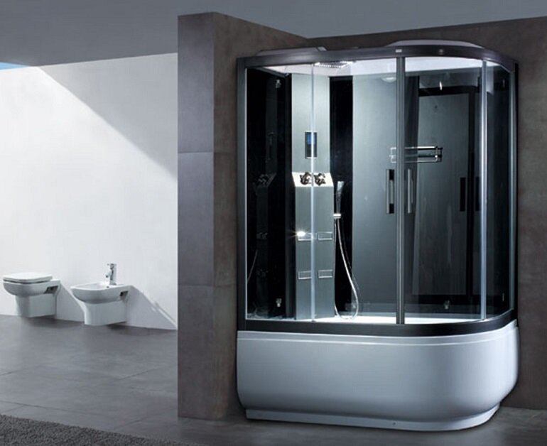 Bồn tắm xông hơi giúp tiết kiệm không gian phòng tắm