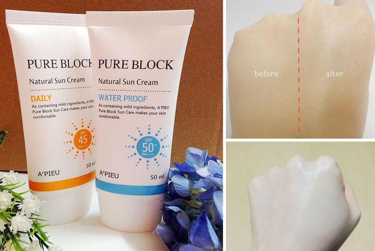 Kem chống nắng hàn quốc Apieu Natural Sun Cream Daily