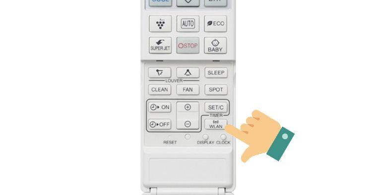 Lưu ý bạn phải thực hiện nhấn nút WLAN trong thời gian 3 phút kể từ lúc đăng kí điều hòa trên điện thoại, nếu không sẽ phải làm lại từ đầu