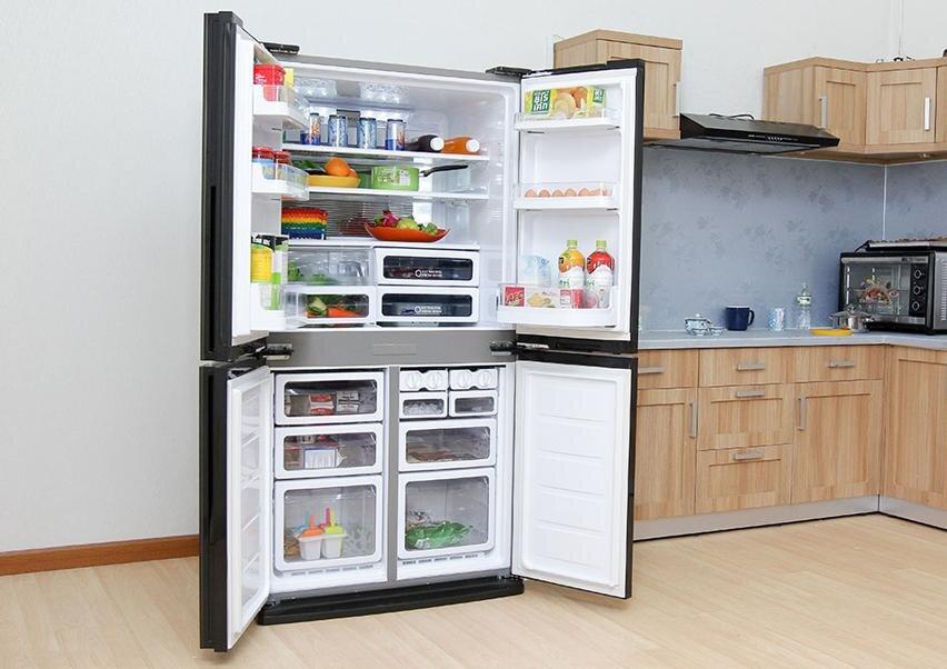 Tủ lạnh SJ-FX631V-SL có nhiều ngăn chứa thực phẩm tiện dụng