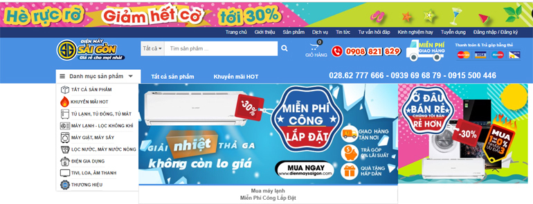 dienmaysaigon.com nơi cung cấp máy lạnh chất lượng giá rẻ