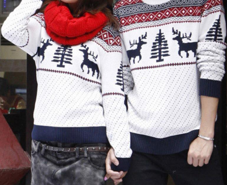 Áo len Noel đôi