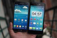 Q-Smart Dream SI đọ màn hình cùng Samsung Galaxy S4