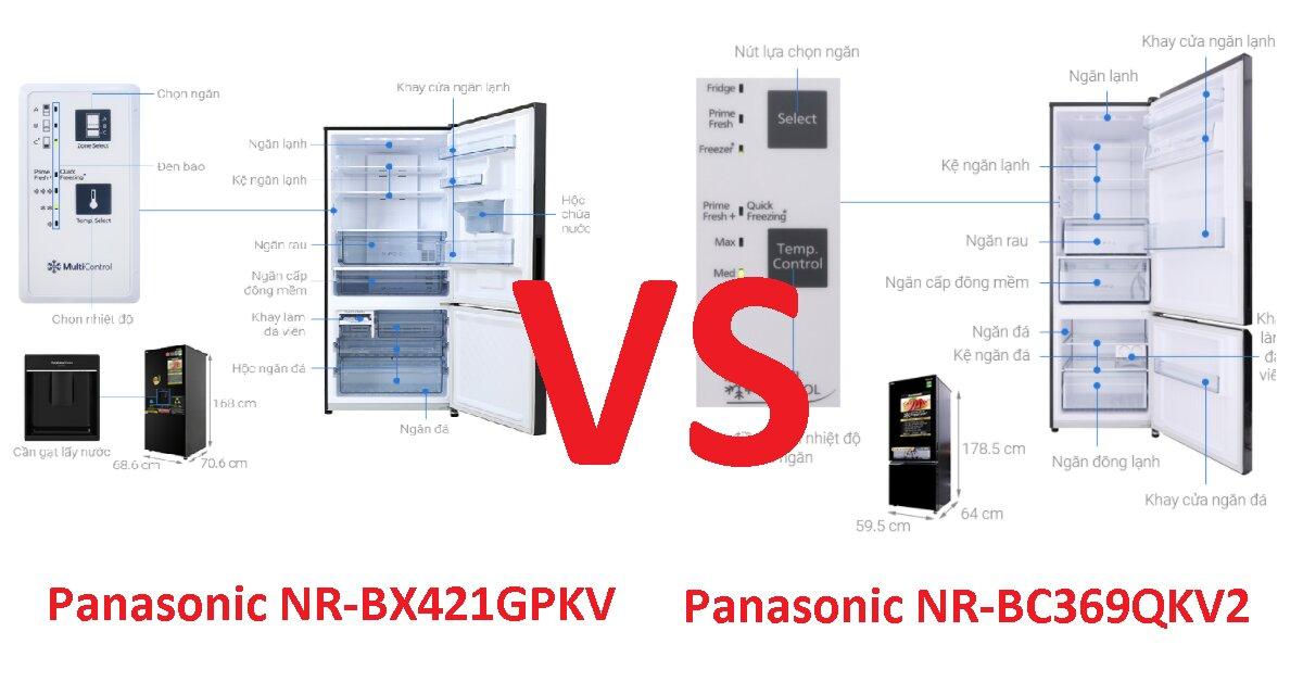 So sánh tủ lạnh Panasonic inverter 322 lít NR-BC369QKV2 và Panasonic NR-BX421GPKV: Tủ lạnh ngăn đá dưới nào đáng sắm hơn?