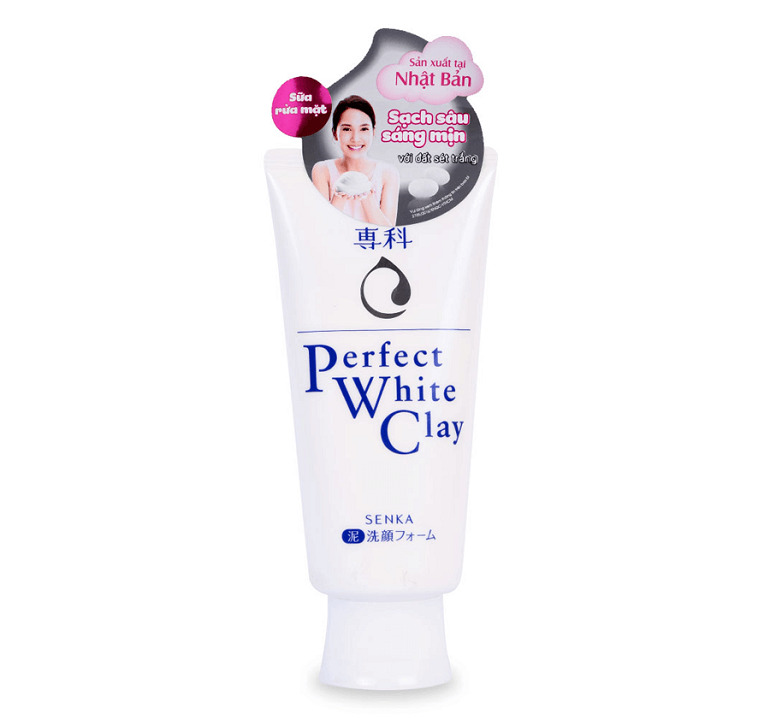 Sữa rửa mặt perfect white clay màu trắng