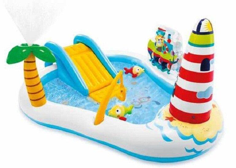 Phao bơi có cầu trượt Intex 57162