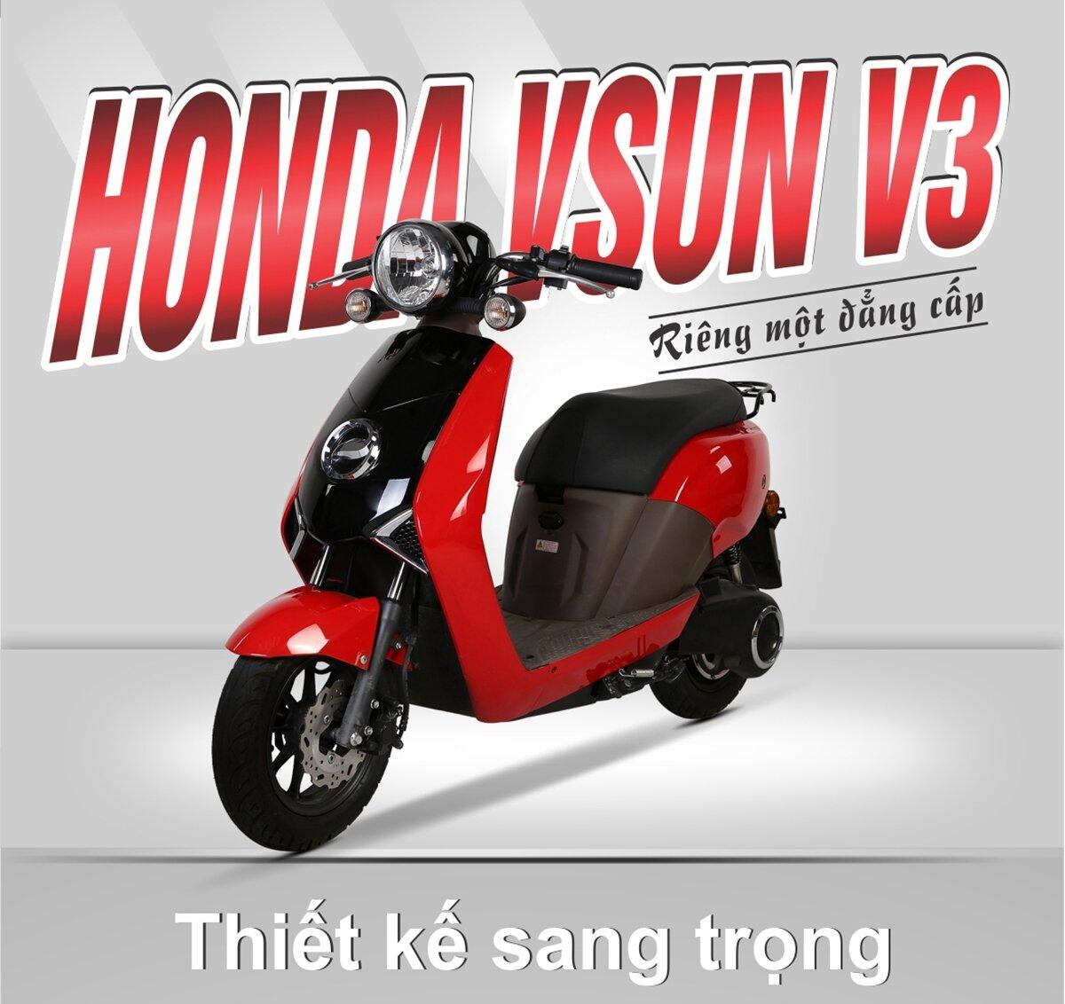 Honda Vsun V3 phiên bản đỏ