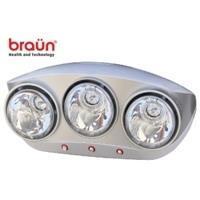 Sưởi nhà tắm Braun 3 bóng trắng BU03