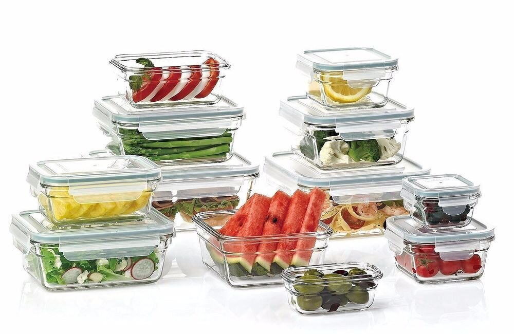 Bộ hộp thức ăn Lock&Lock thủy tinh
