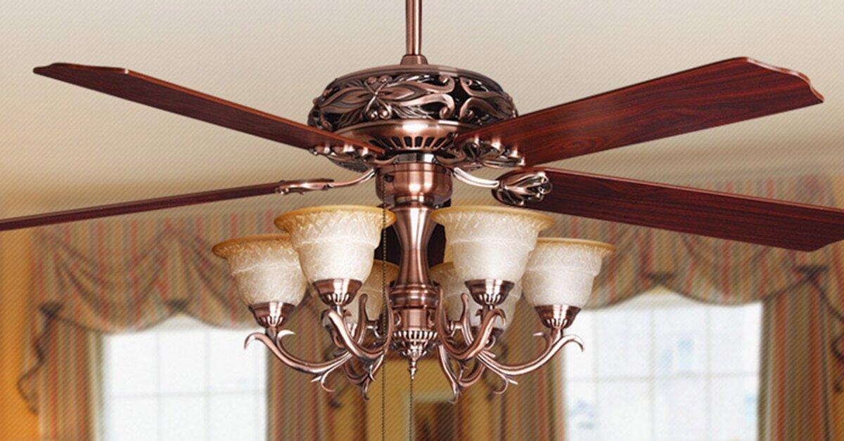 Quạt trần đèn chùm là gì? Ưu điểm và nhược điểm của quạt trần đèn chùm