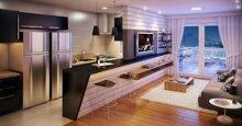Quầy bar ngăn bếp và phòng khách: Lựa chọn của nhiều gia đình hiện nay