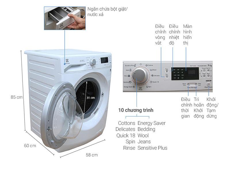 máy giặt Electrolux 9kg loại nào tốt