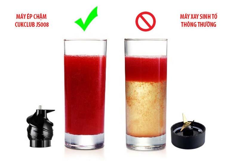 Máy ép chậm cho lượng ép nhiều và thành phần dinh dưỡng cao hơn
