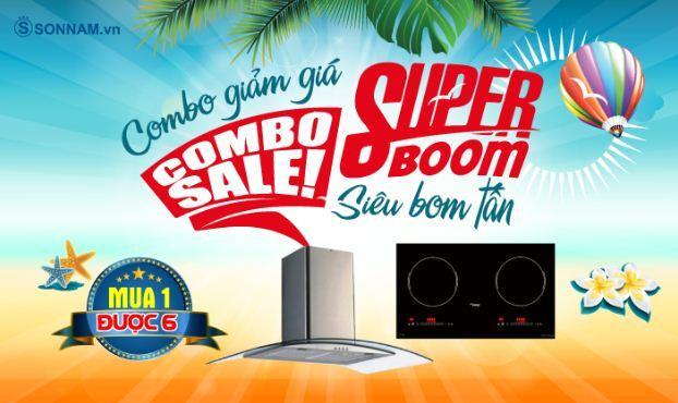 Chương trình combo 3: Combo Sale Super Boom - Combo giảm giá Siêu bom tấn với 4 lựa chọn