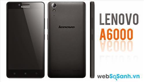 Smartphone Lenovo A6000 có thiết kế khá đơn giản với kiểu bo tròn bốn góc và mặt lưng vát