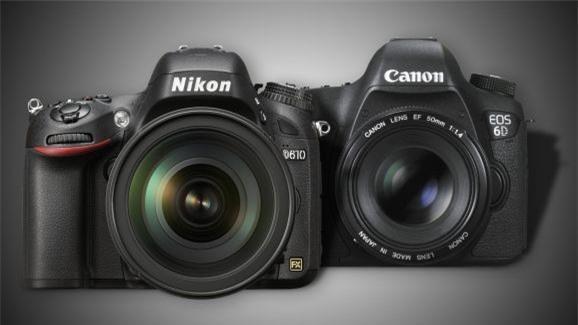 Nikon D610 vs Canon 6D: best full frame DSLR on a budget