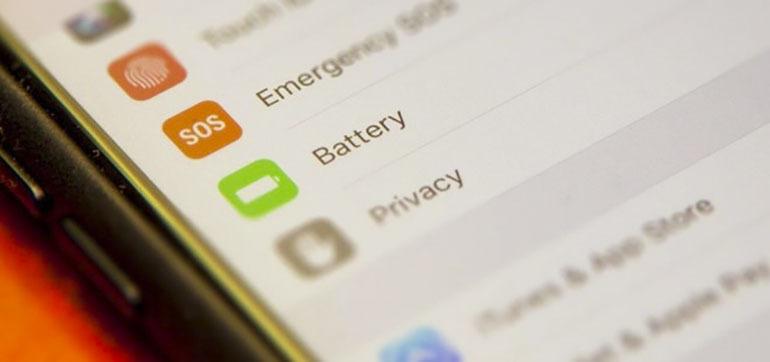 tính năng tiết kiệm pin trên IOS 11.3