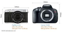 So sánh máy ảnh Canon EOS 700D và Fujifilm X-E2