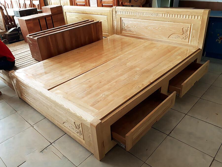 Giường đôi gỗ sồi Cozino Holy 1.4m