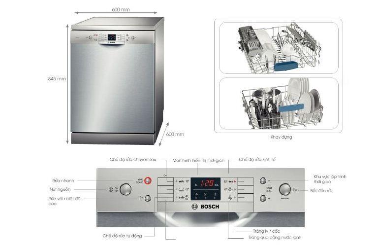 Máy rửa bát Bosch SMS63L08EA