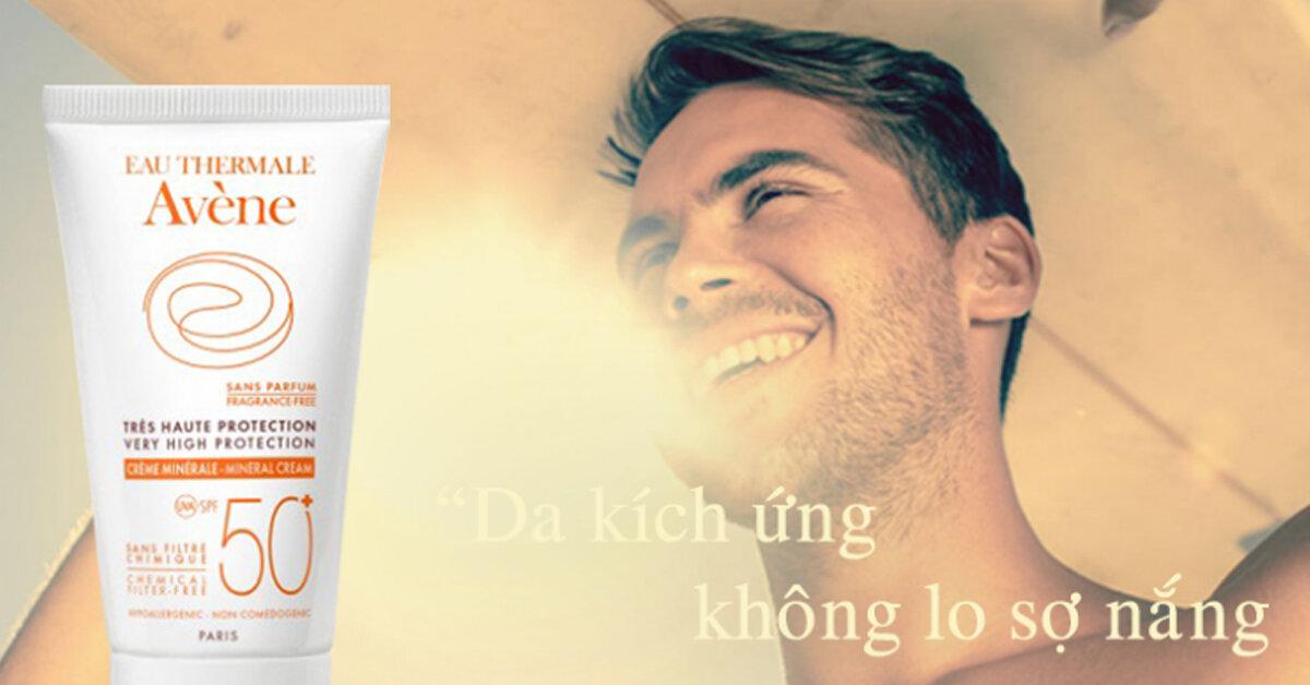 Review Avène Very High Protection Mineral Cream SPF 50+ – Kem chống nắng dành cho da nhạy cảm, da bị kích ứng