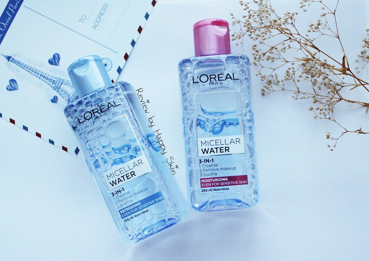 Review bộ đôi nước tẩy trang micellar giá rẻ L'Oreal 3 in 1