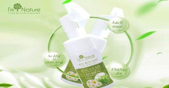 Review chi tiết về sản phẩm sữa rửa mặt I'm Nature