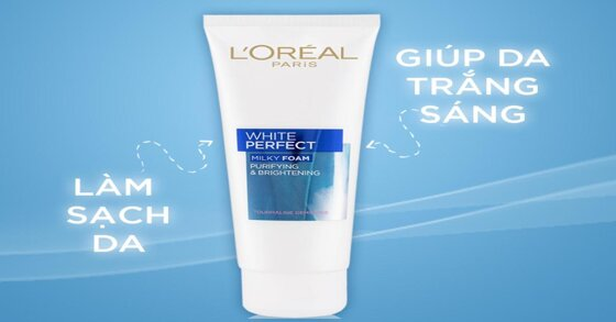 Review chi tiết về sữa rửa mặt L'oreal White Perfect