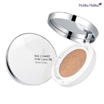 Review cushion Holika Holika Face 2 Chance White cushion BB cream