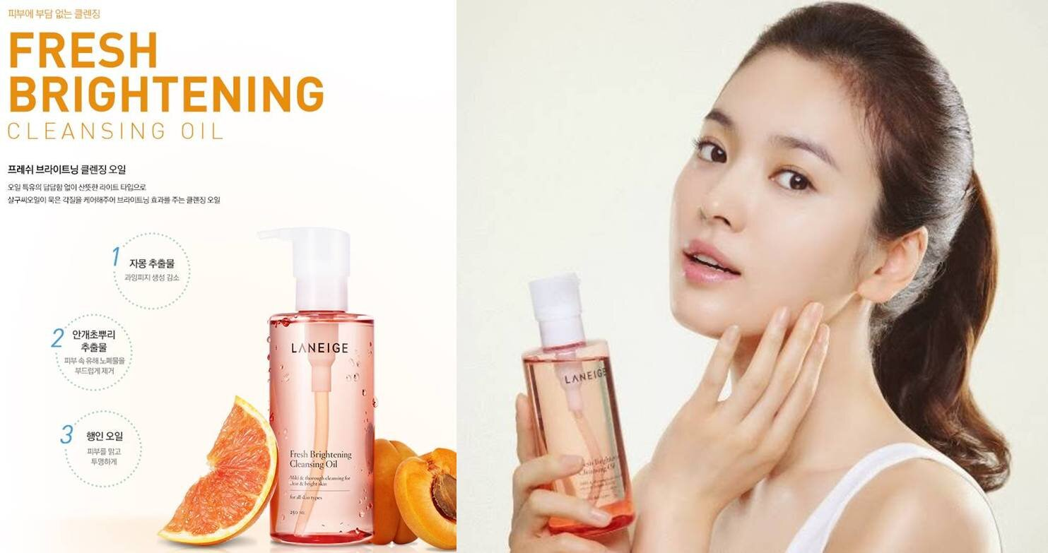 Review dầu tẩy trang Laneige Fresh Brightening Cleansing Oil