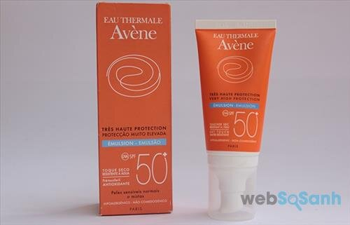 Review kem chống nắng Avene Very High Protection Emulsion SPF50+