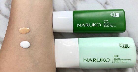 Review kem chống nắng Naruko dành cho da dầu mụn