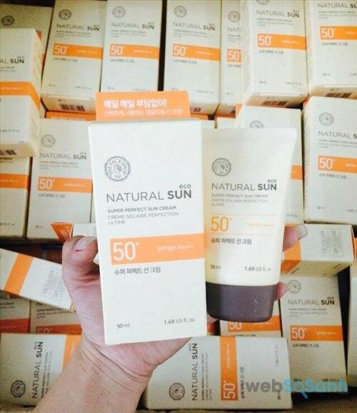 Review kem chống nắng The Face Shop Nature Sun Eco Super Perfect Suncream