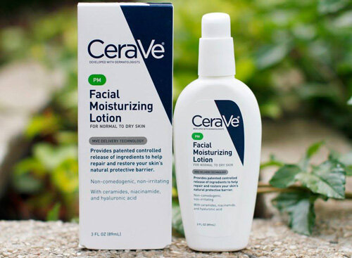 Review kem dưỡng ban đêm Cerave Facial Moisturizing lotion PM For Normal and Dry Skin