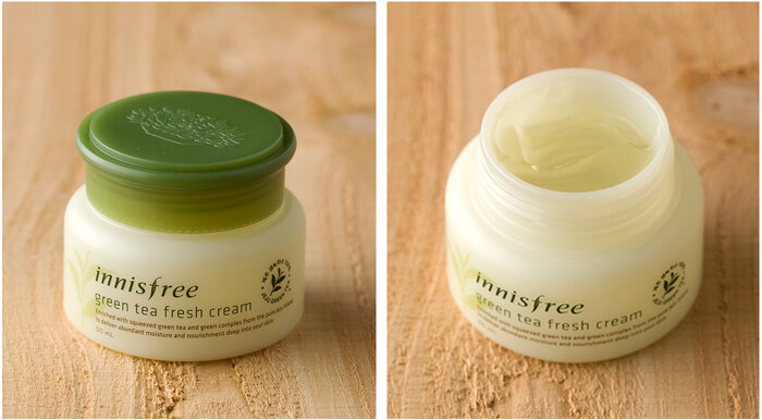 Review kem dưỡng cho da dầu Innisfree Green Tea Fresh Cream