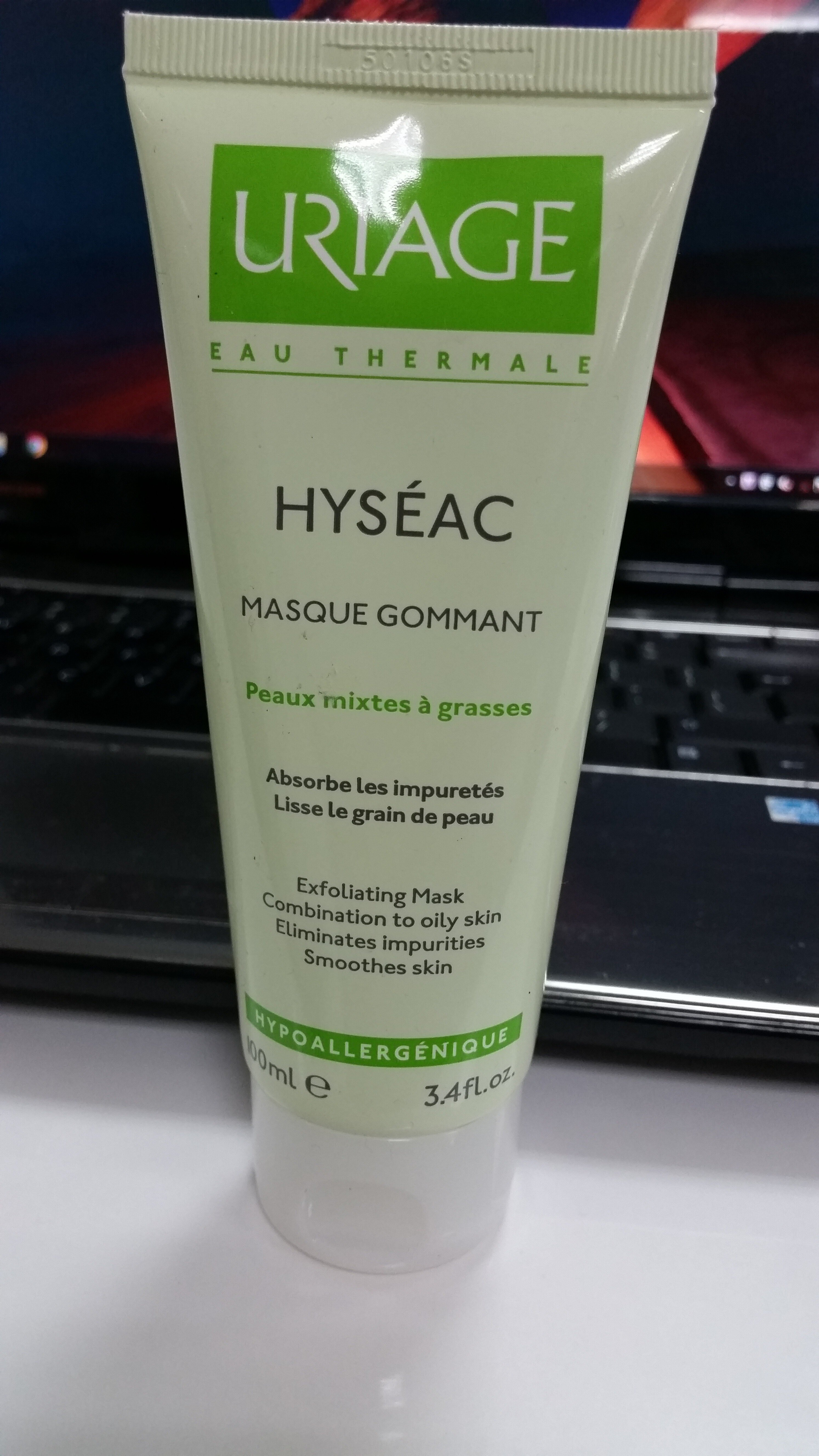 "Review kem tẩy da chết ""2 trong 1"" Uriage Hyseac Masque Gommant dành cho da dầu và da hỗn hợp"