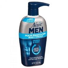 Review kem tẩy lông dành cho nam giới Nair Hair Remover Body Cream for Men