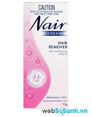 Review kem tẩy lông Nair Cream Hair Remover