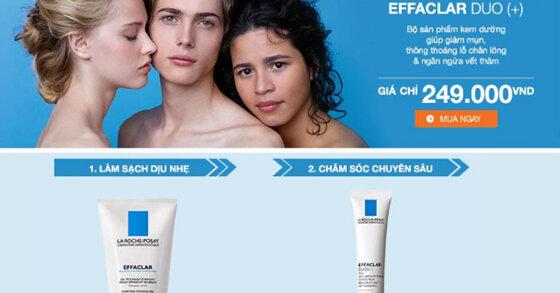 Review La Roche Posay Effaclar Kit - Bộ sản phẩm chăm sóc da chuyên sâu cho da mụn và da nhạy cảm từ chương trình Đại tiệc sinh nhật lần 6 Lazada