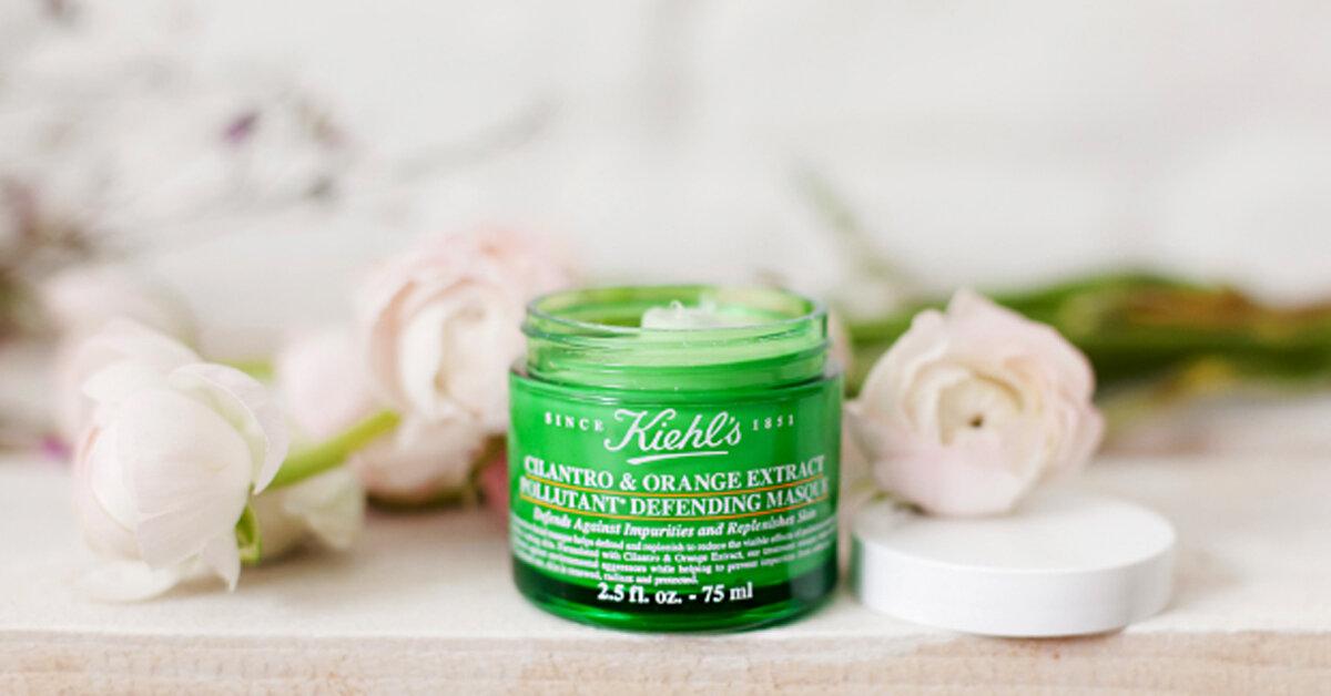 Review mặt nạ Kiehl's Cilantro & Orange Extract Pollutant Defending Masque – Mặt nạ dưỡng da cực tốt cho dân văn phòng thoải mái ngồi điều hòa