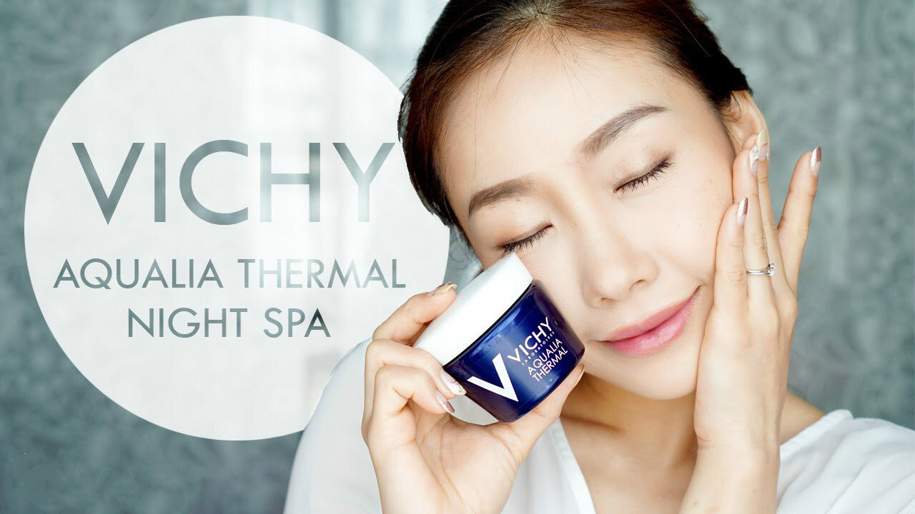Review mặt nạ ngủ Vichy Aqualia Thermal Night Spa Replenishing & Soothing Sleeping Mask