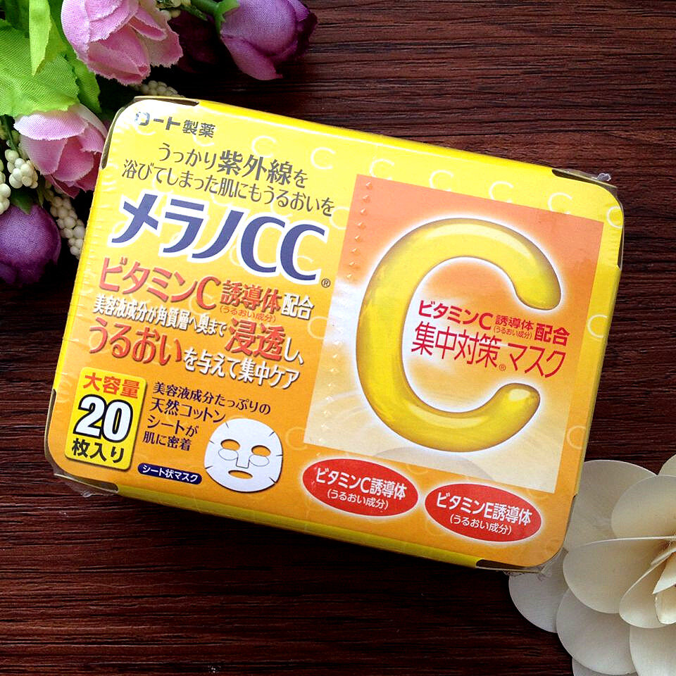 Review mặt nạ vitamin C Melano CC Mask