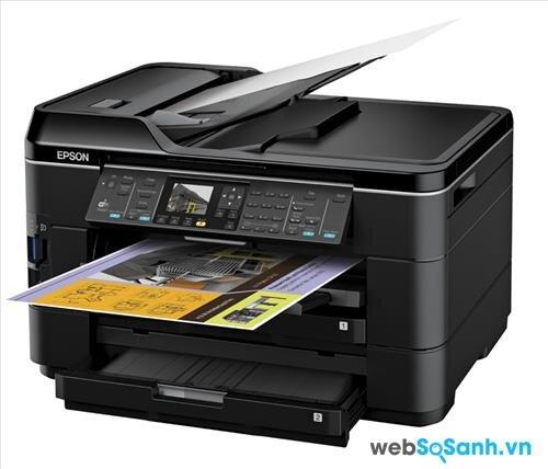 Review máy in đa năng xử lý cỡ giấy lớn Epson WorkForce WF-7510